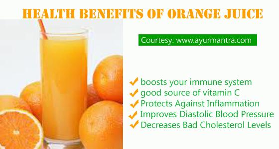 Orange juice for health